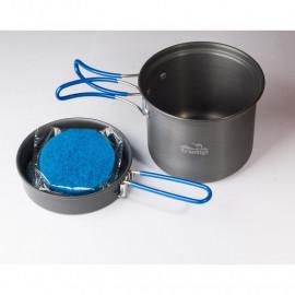 Каструля-кружка 1,0 л анодована з кришкою-сковорідкою