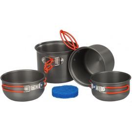 Набор посуды из анодированого алюминия на 1-2 персоны   Tramp
