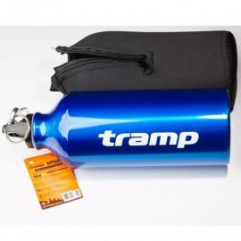 Бутылка алюминиевая в чехле из неопрена   Tramp