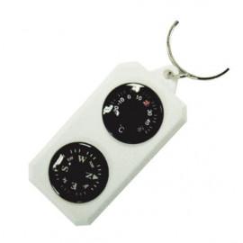 Компас-брелок сувенірний з термометром SOL