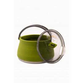 Чайник Tramp силіконовий з металевим дном 1л олива TRC-125