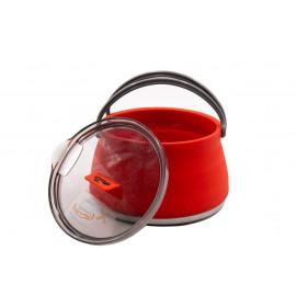 Чайник Tramp силіконовий з металевим дном 1л terracota TRC-125